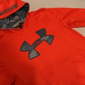 Under Armour Shirts & Tops - Under Armour Boys Orange Hoodie Sweater